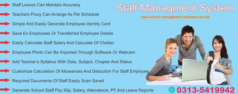 Staff management system